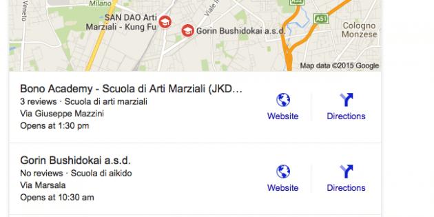 print screen coi Cambi nei risultati nelle ricerche locali di Google (da 7 si scende a 3)