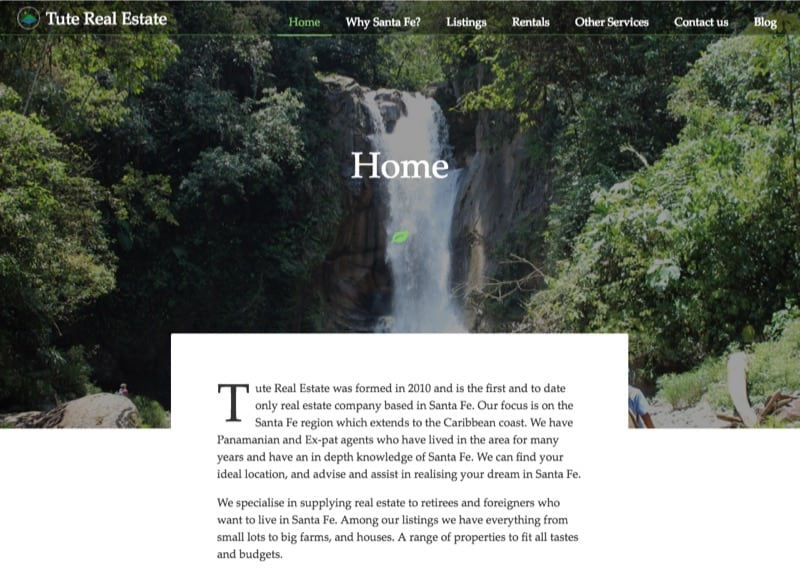 Real estate webpage screen shot